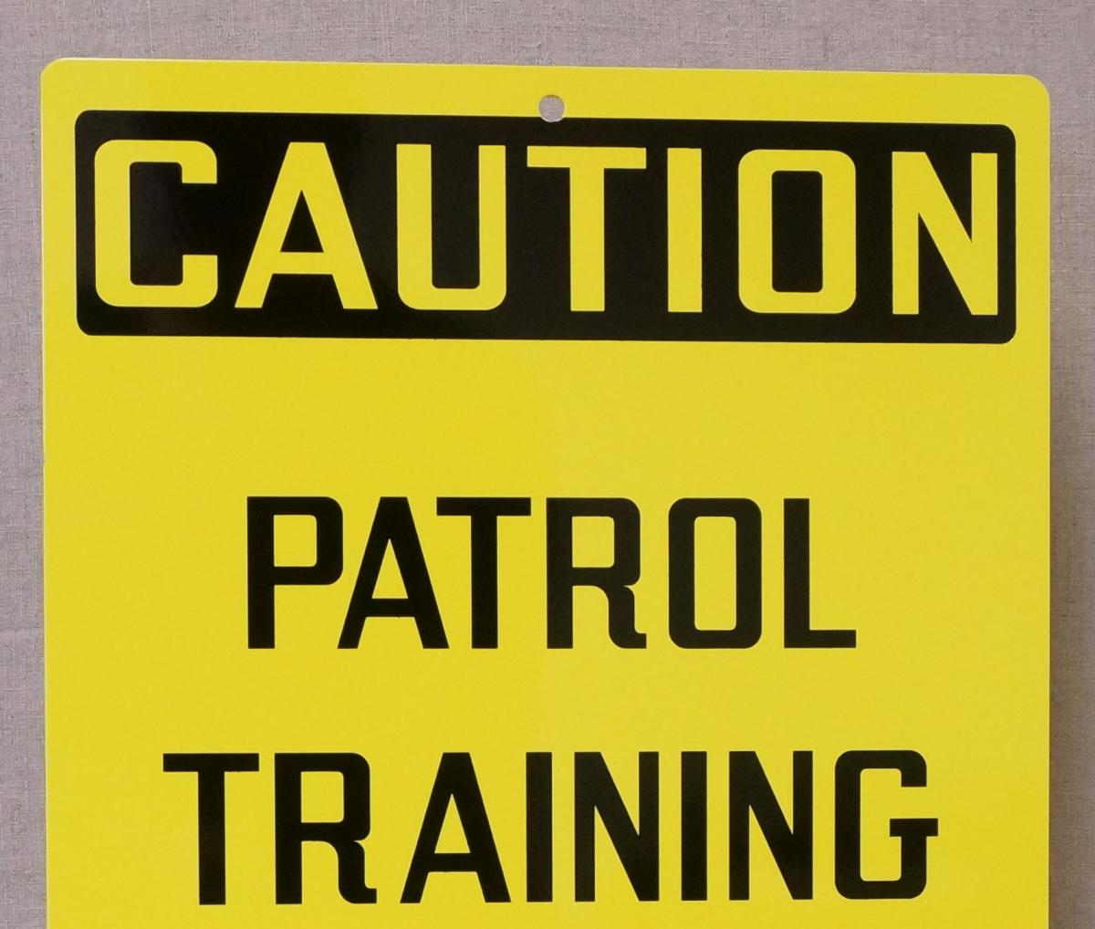 Stonehouse Signs Custom Ski Sign Caution Patrol Training In Progress