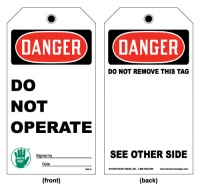 Stonehouse Signs Danger Do Not Operate Tag