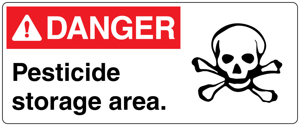 Hazardous Chemicals And Materials Sign Danger Pesticide Storage