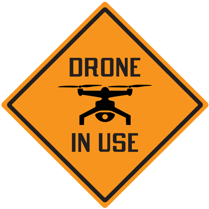 Stonehouse Signs Drone In Use Sign 15inx15in