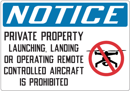 Stonehouse Signs Private Property No Drones Sign