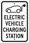 Stonehouse Signs Electric Vehicle Charging Station Reserved Parking Sign