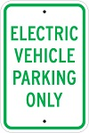 Stonehouse Signs Electric Vehicle Parking Only Reserved Parking Sign