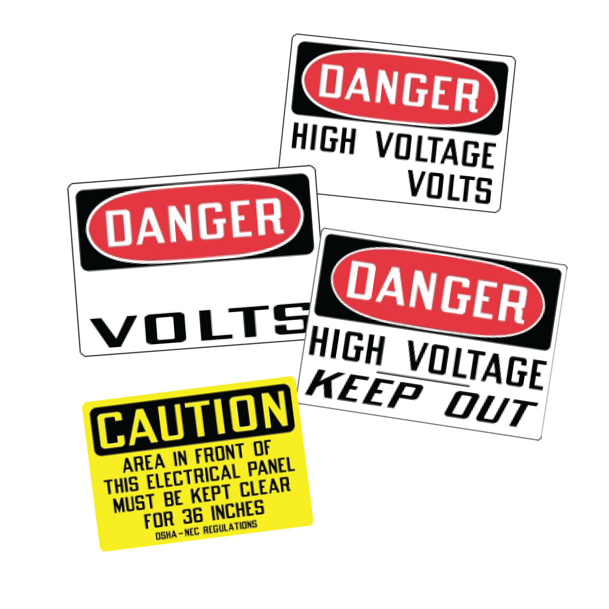 Stonehouse Signs Electrical Safety Self Adhesive Vinyl Labels Decals