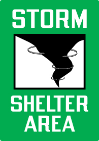 Directional Sign Storm Shelter Area Stonehouse Signs