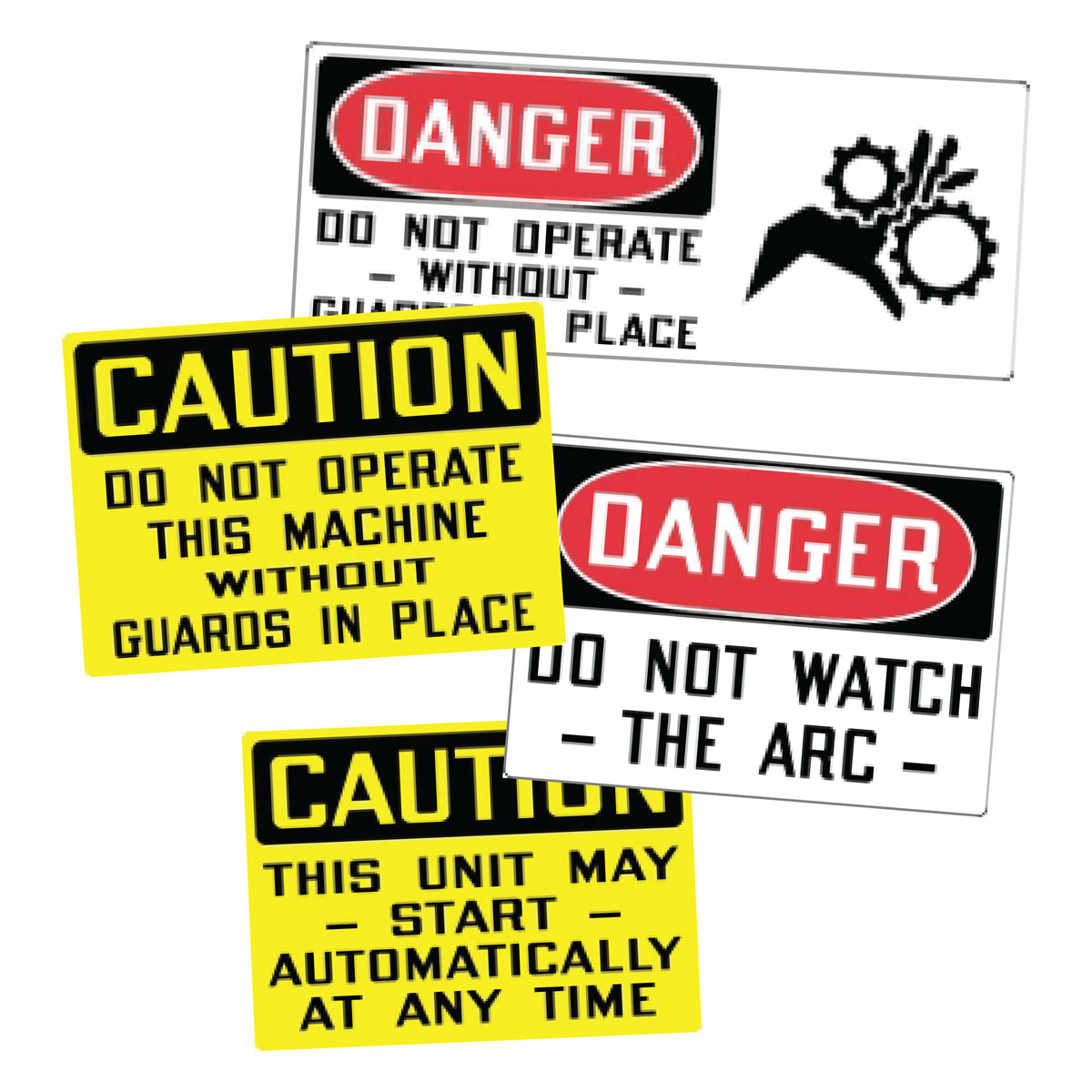 Stonehouse Signs Equipment & Operational Self Adhesive Vinyl Labels Decals