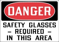 Stonehouse Signs Eye Protection PPE Signs Danger Safety Glasses Required In This Area