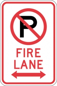 Stonehouse Signs No Parking Fire Lane Sign with No Parking Symbol and Double Arrow