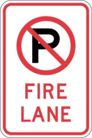 Stonehouse Signs No Parking Fire Lane Sign with No Parking Symbol