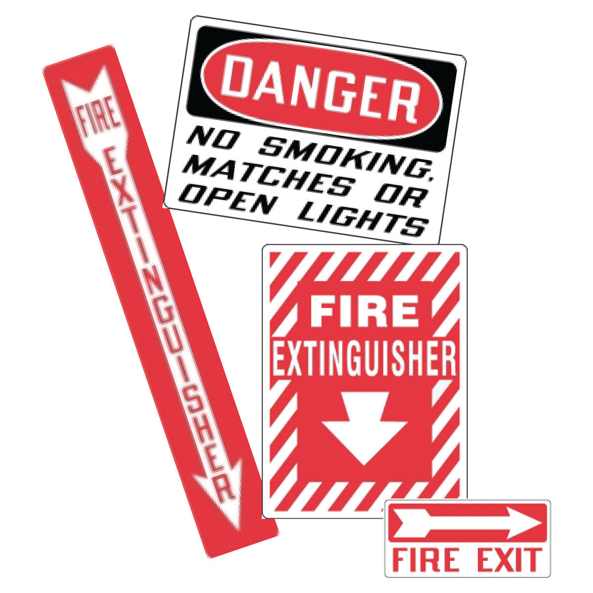 Stonehouse Signs Fire Safety Self Adhesive Vinyl Labels Decals