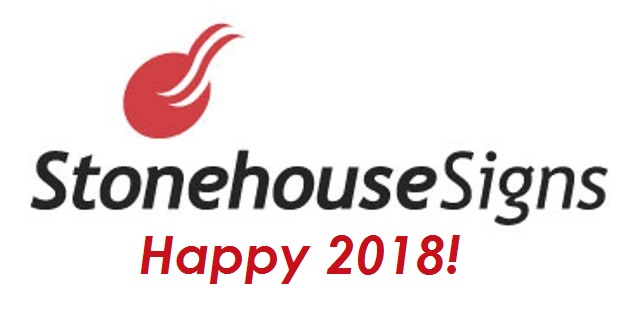 Stonehouse Signs Happy 2018
