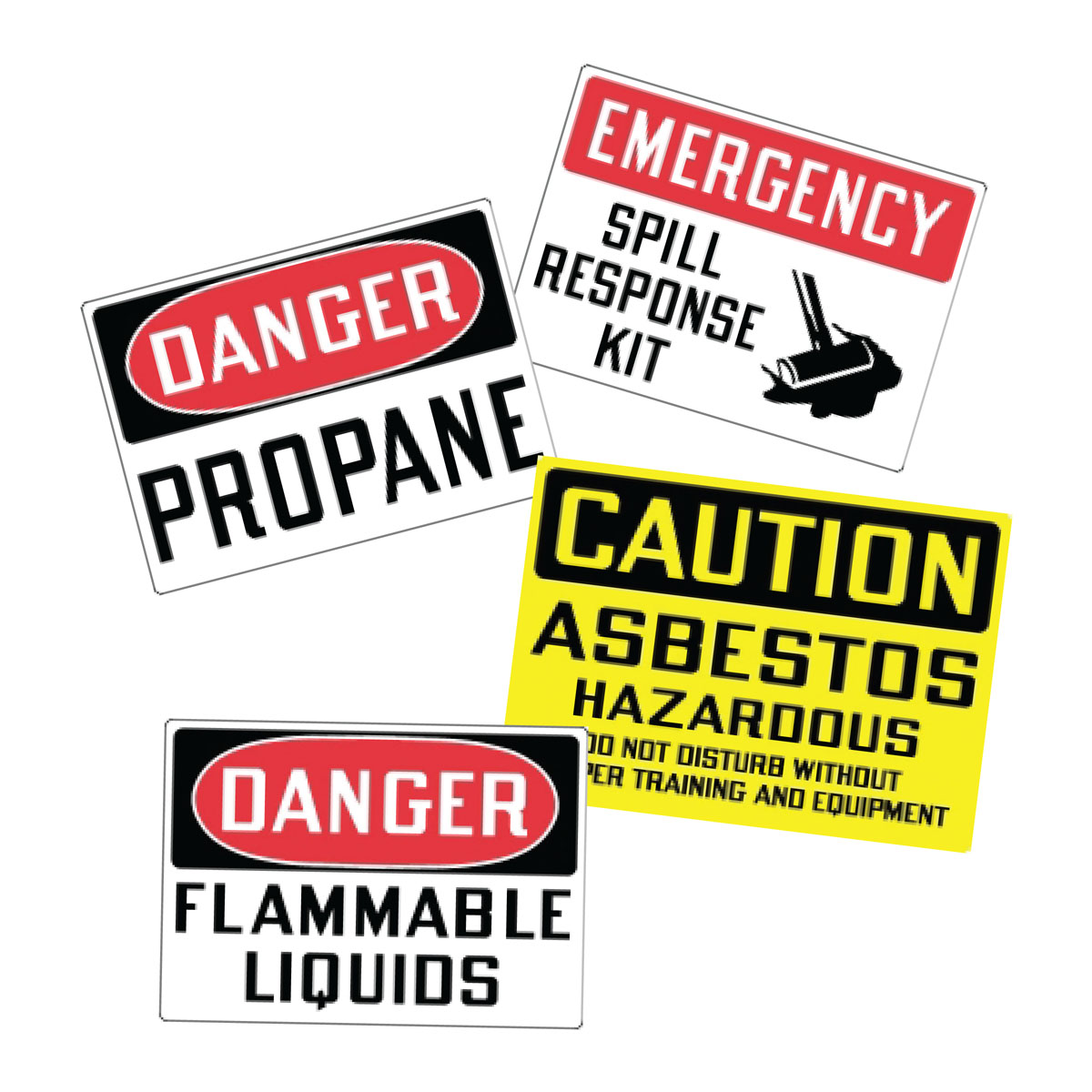 Stonehouse Signs Hazardous Chemical Vinyl Safety Labels and Decals