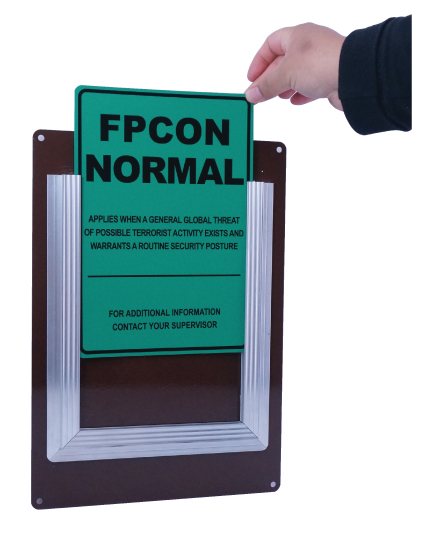 Stonehouse Signs Custom FPCON Slider Sign Military Warning System