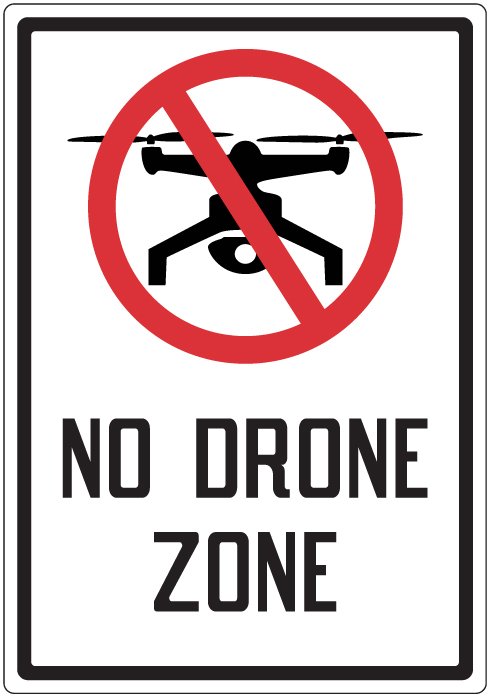 Stonehouse Signs No Drone Zone Sign