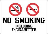 Stonehouse Signs No Smoking Including E Cigarettes Sign