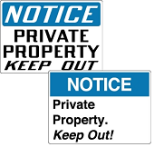 No Trespassing Signs & Private Property Signs | Stonehouse Signs