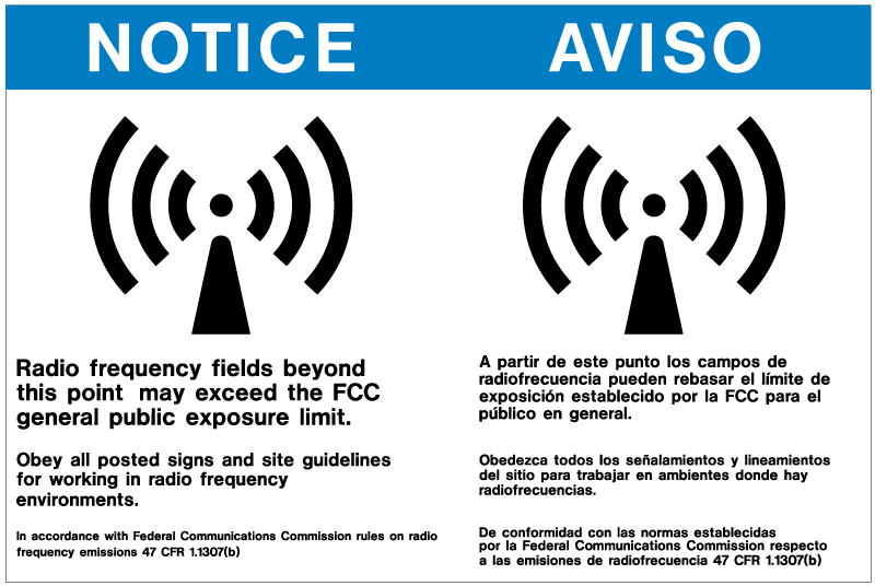 Stonehouse Signs Radio Frequency Warning Signs Custom