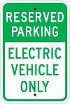 Stonehouse Signs Reserved Parking Electric Vehicle Only Parking Sign