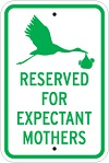 Stonehouse Signs Reserved Parking Sign Reserved for Expectant Mothers Parking Sign
