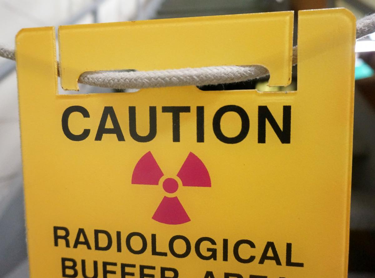 Stonehouse Signs Custom Rope Mounted Signs Caution Radiological Buffer Area Sign