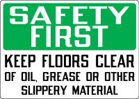 Stonehouse Signs Keep Floors Clear Sign