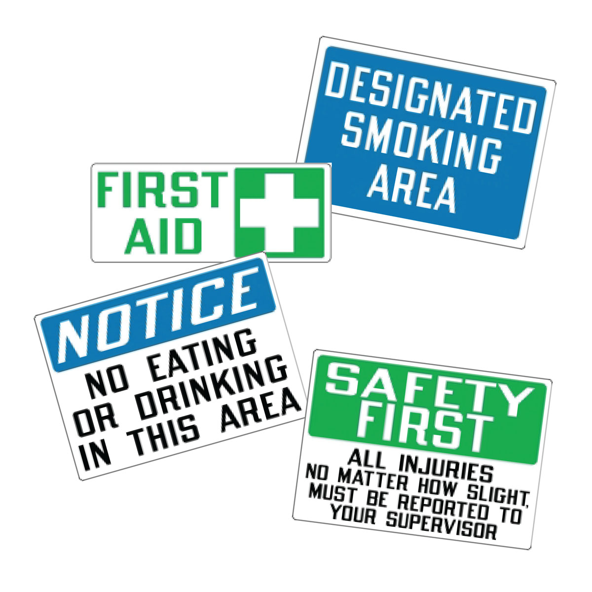 Stonehouse Signs Self Adhesive Vinyl Safety Labels Decals