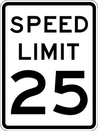 Stonehouse Signs Speed Limit 25 Sign