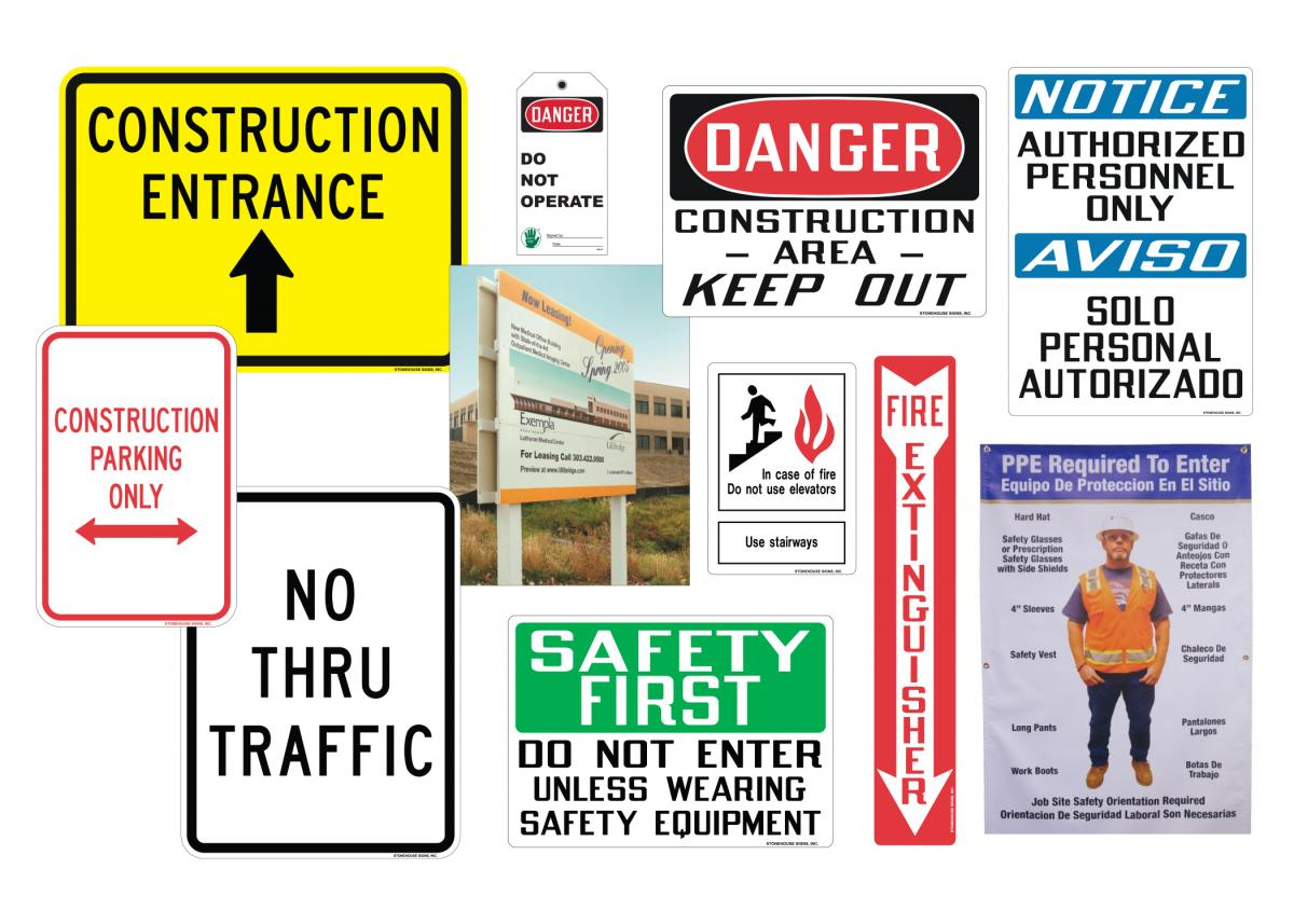 Stonehouse Signs Stock and Custom Construction Signs / Tags