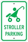 Stonehouse Signs Stroller Parking Reserved Parking Sign