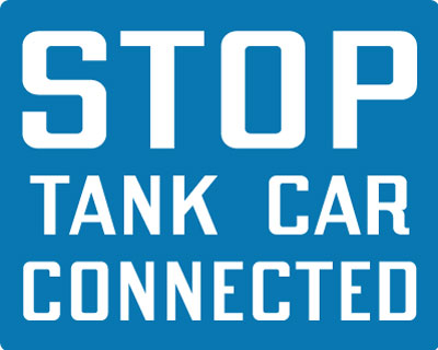 Stonehouse Signs Stop Tank Car Connected Sign