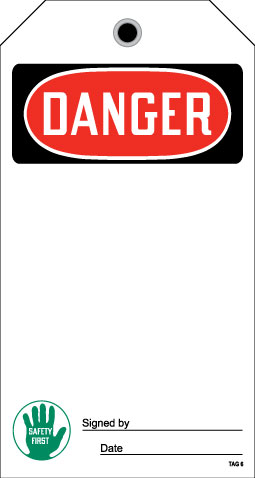 Stonehouse Signs OSHA Danger Tag