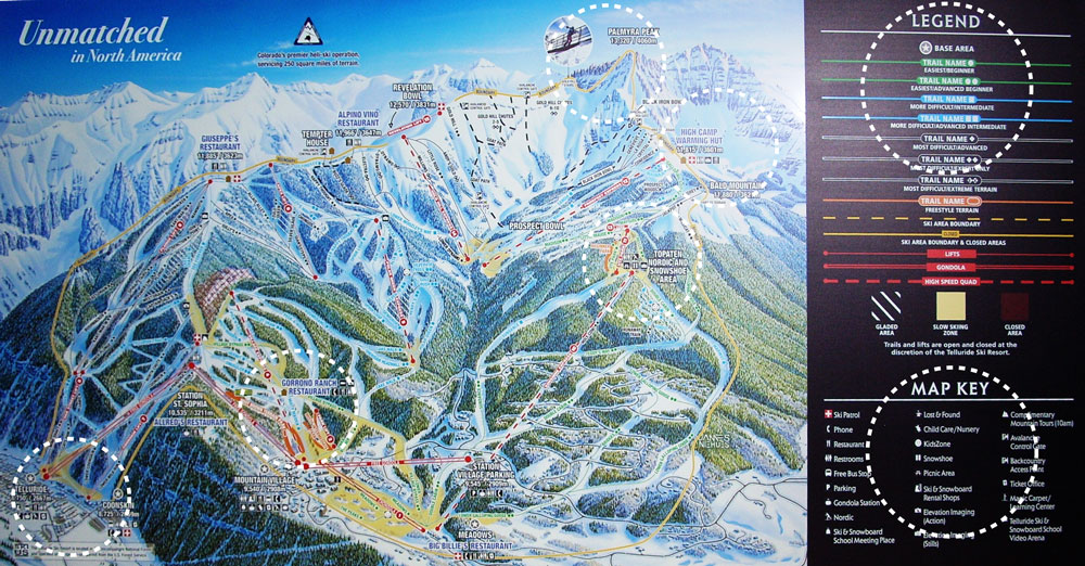 Stonehouse Signs Digitally Printed Mountain Map