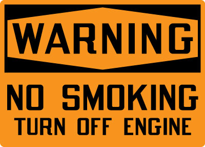 Stonehouse Signs Warning No Smoking Turn Off Engine Sign