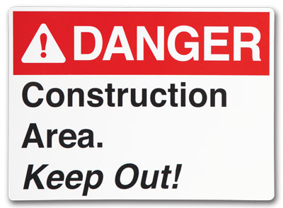 Custom Safety Signs- Change Up any of our standard signs to ANSI Format.
