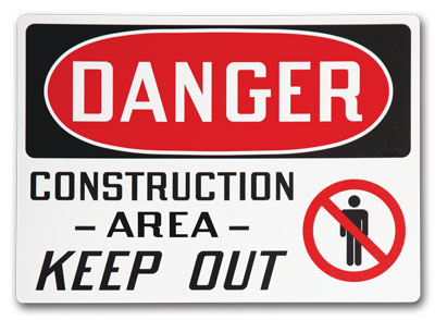 Custom Safety Signs- Change It Up and add a standard symbol.