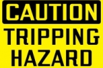 Stonehouse Signs Safety Sign Caution Tripping Hazard