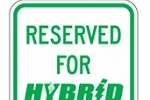 Stonehouse Signs Hybrid Vehicle Parking Only Sign
