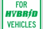 Image of Stonehouse Signs Hybrid Vehicle Parking Sign