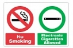 Stonehouse Signs No Smoking Electronic Cigarettes Allowed Sign