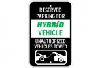 Stonehouse Signs Reserved Parking Signs Hybrid Vehicle Parking Only