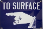 "Image of Stonehouse Signs ""To Surface"" Safety Sign With Pointed Finger"