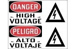 Stonehouse Signs Danger High Voltage English/Spanish Sign