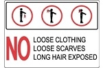 Ski Lift Safety Signs - ANSI Check For Loose Clothing And Equipment Sign