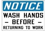 Stonehouse Signs Notice Sign Wash Hands Before Returning To Work