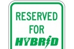 Stonehouse Signs Hybrid Vehicle Parking Sign