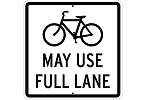Stonehouse Signs Bicycles May Use Full Lane Sign
