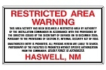 Stonehouse Signs Custom Military Restricted Area Warning Sign