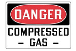 Stonehouse Signs Danger Compressed Gas Cylinder Sign