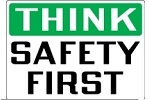 Stonehouse Signs Think Safety First Safety Sign