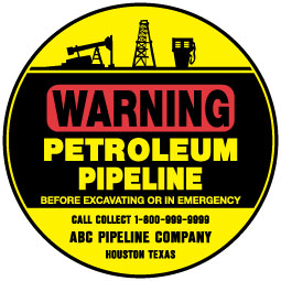 Stonehouse Signs Custom Pipeline Warning Signs